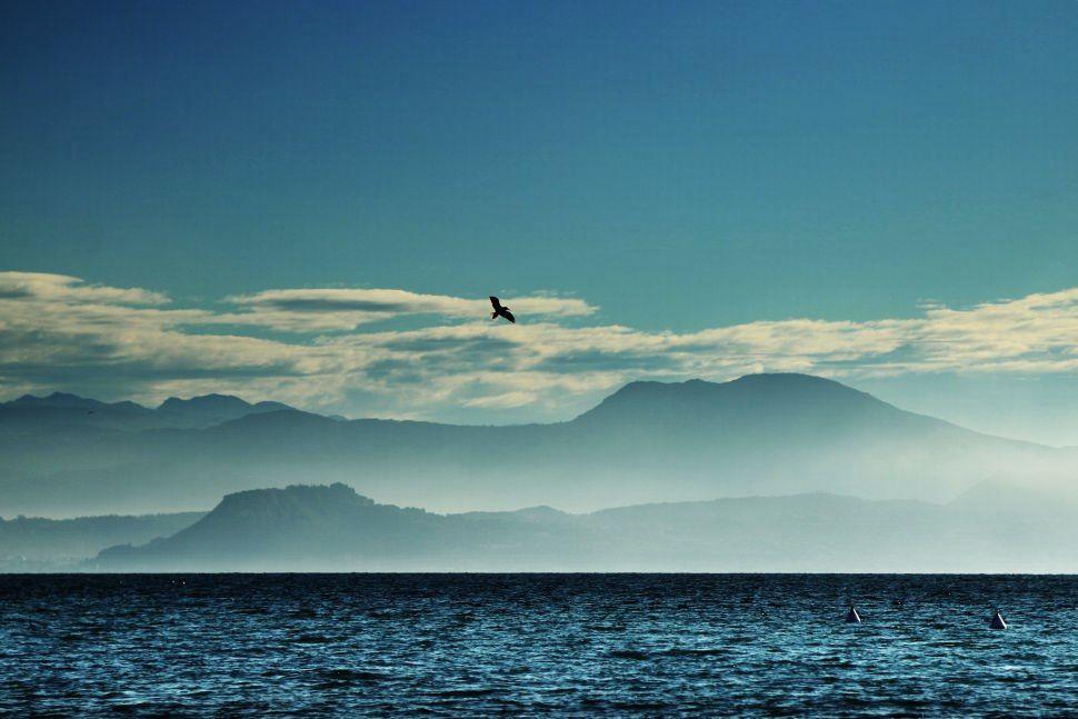 Morning at Lake Garda by Malleni-Art