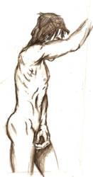 Nude Male side profile by StickWilde