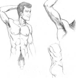 Male anatomy study by StickWilde