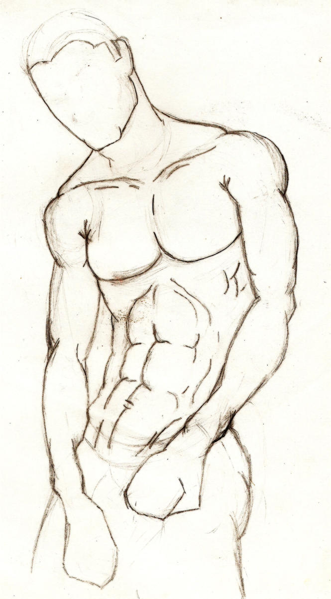 Male anatomy study2 by StickWilde