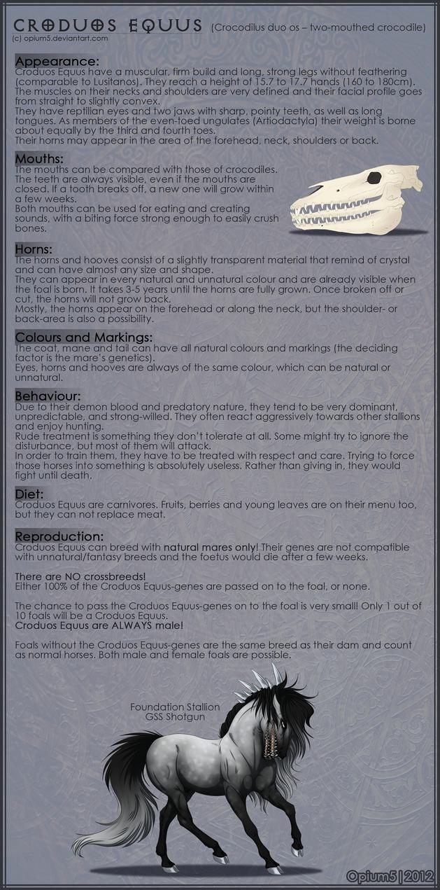 Croduos Equus Breedsheet by Opium5