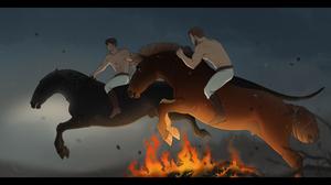 Fire Trials   3 Bonfire Jumps