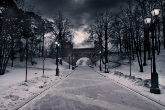 Road to castle of Catherine II