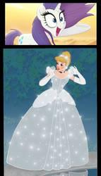 Rarity likes Cinderella dress