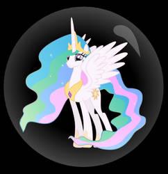 Princess Celestia Trapped In a bubble