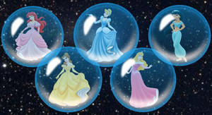 The Disney Princesses in Space