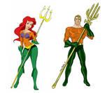 Ariel and Aquaman