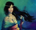 ninja lady person by vmbui