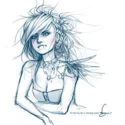 raven sketch.