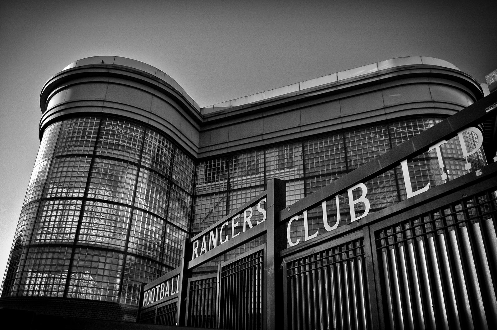 Copland Road Gates, Ibrox Stadium. by davidjearly