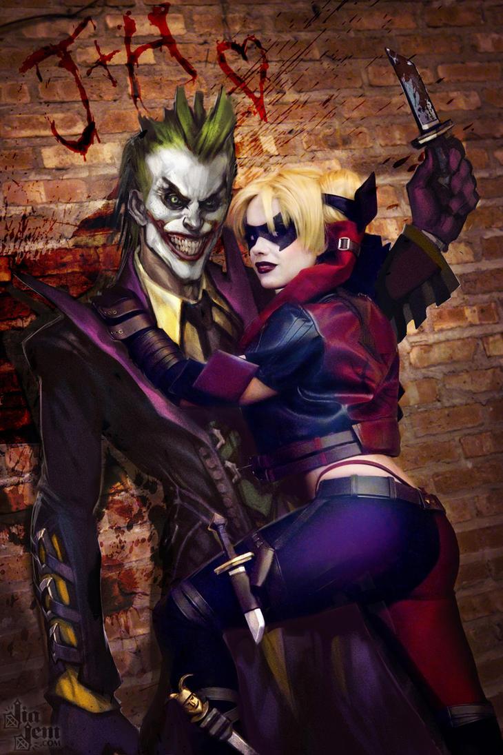 Joker + Harley 4eva by JiaJem