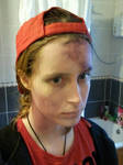 Practise Nazi Zombie make-up by Mudley