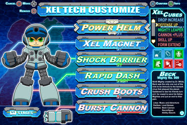 [Mighty No.9] Beck Customization mock-up