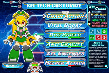[Mighty No.9] Call Customization mock-up by Availation
