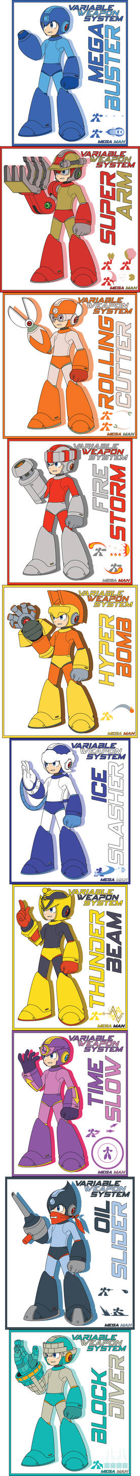 Mega Man 11 New Variable Weapon System