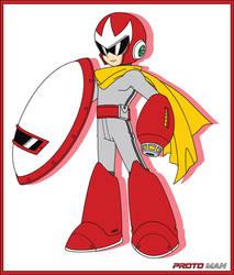 Proto Man (Mega Man 11 art style) by Availation
