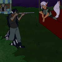 [prompt 12] SWAT sniper takes his aim
