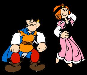 Popeye and Olive as Sir Johan and Princess Savina