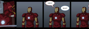 Iron Man Encounters A Problem by TheMinttu