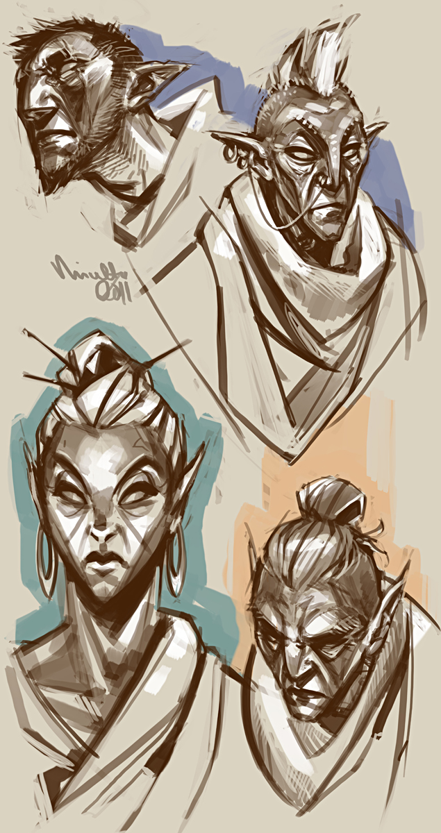 Morrowind natives by TheMinttu