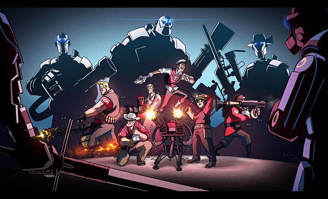TF2 - Robots! by TheMinttu