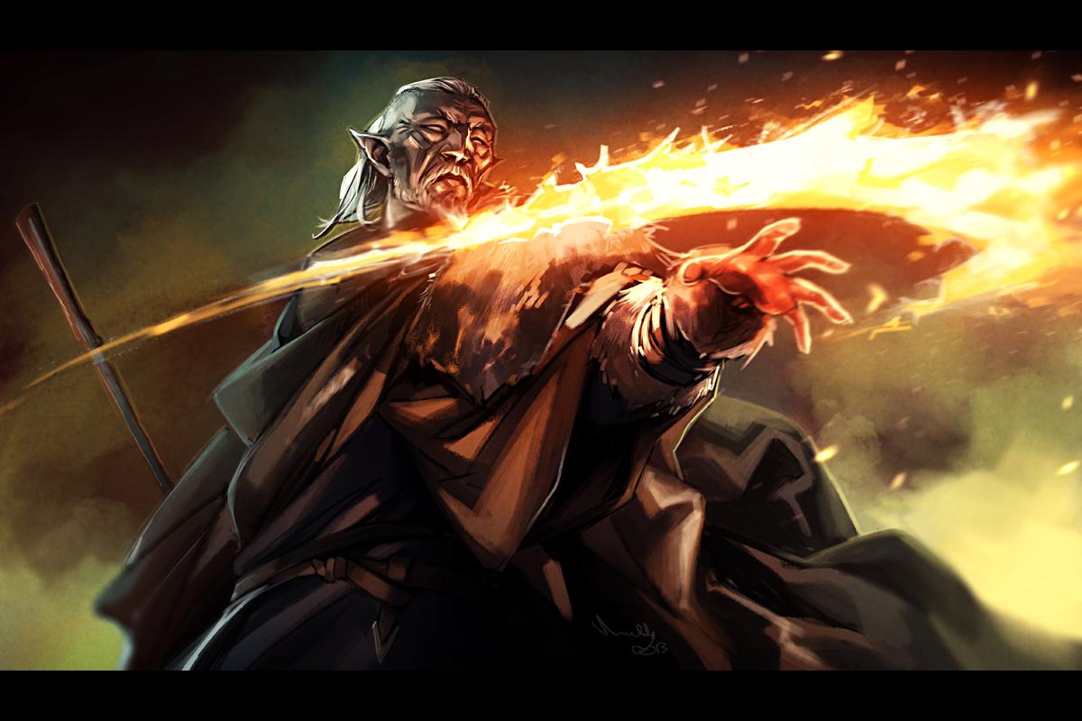 Vadril - Fire magic by TheMinttu