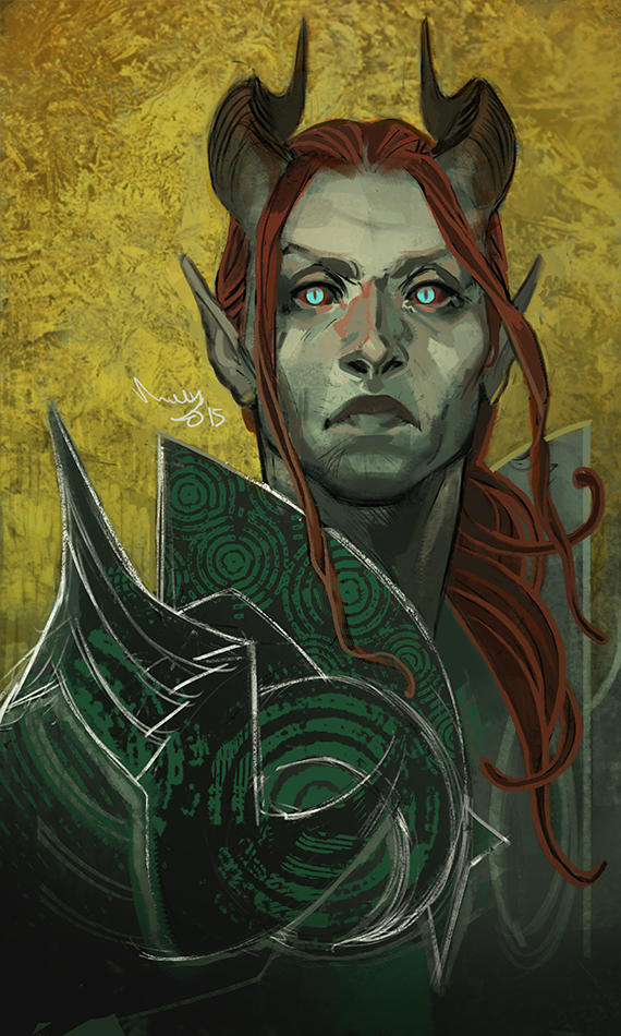 Valen Shadowbreath by TheMinttu