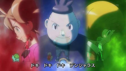 Pokemon Mega V op! Shauna, Tierno, and Trevor! by The-P3nguin