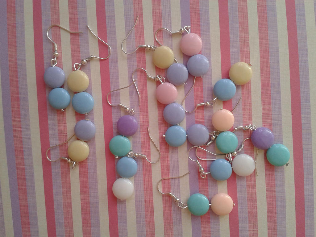 Pastel MeM Earrings by Riunien
