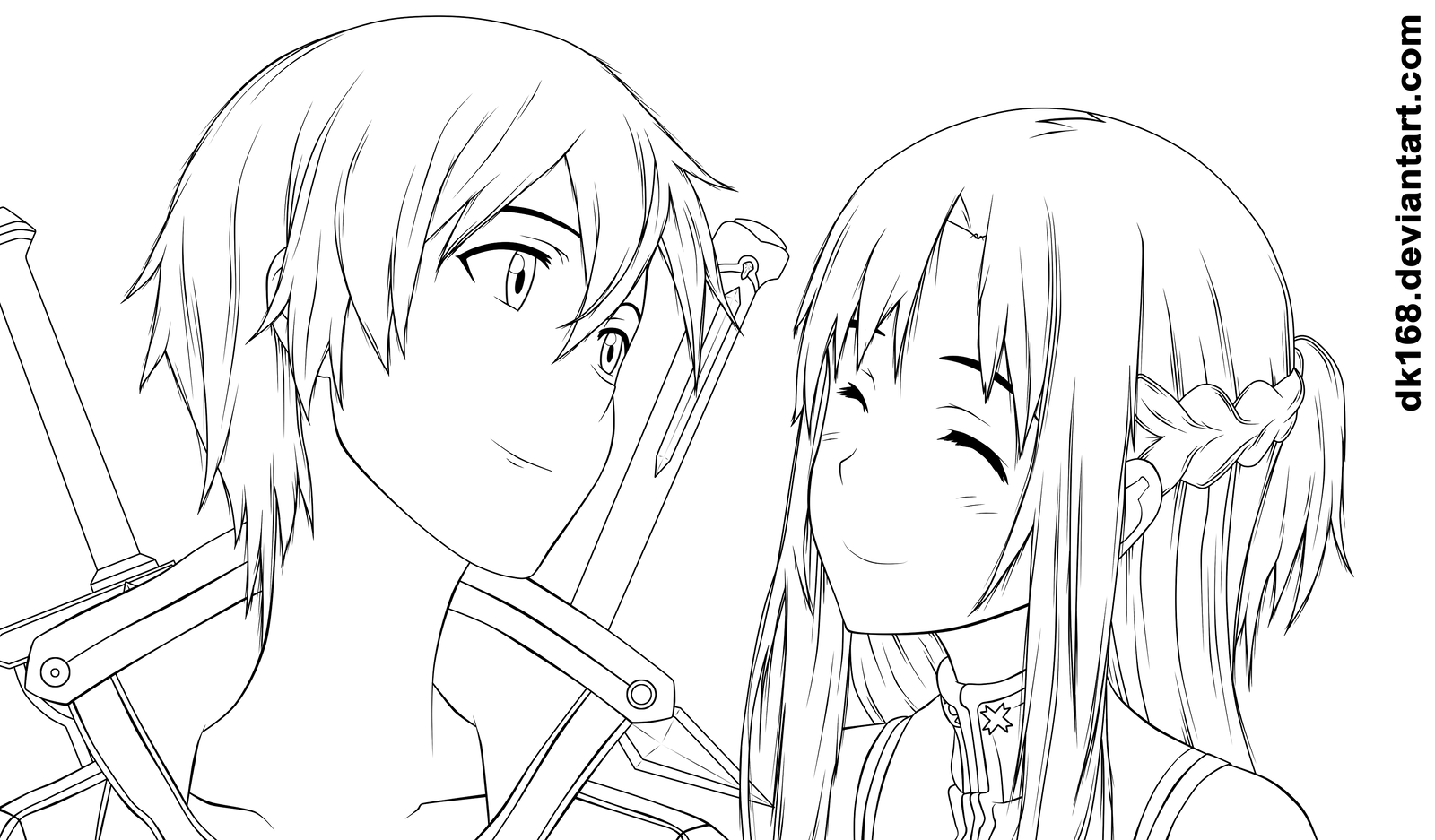 Kirito And Asuna By Dk168 On Deviantart