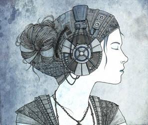 High Tech girl coloured by Kiwi-Kwi
