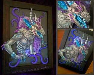 Sha'Kumni:  Eidolon of Shadow by ultravioletbat