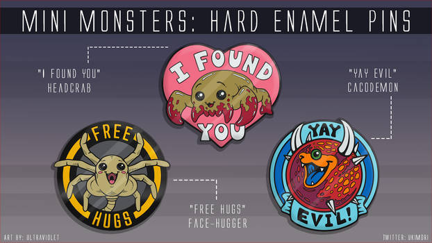 Mini Monsters: Hard Enamel Pin KS