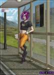 Bus Stop Poser by ultravioletbat