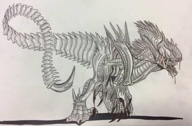 Indoraptor Xenomorph by Killosaur