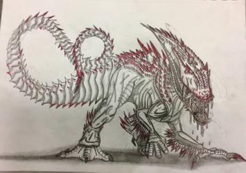 Xenomorph/Neomorph Indominus Rex by Killosaur