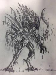 Saliva King Xenomorph by Killosaur