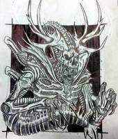 Xenomorph Wendigo by Killosaur