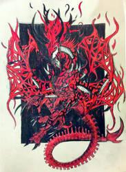 Carnage Xenomorph Dragon Hybrid by Killosaur