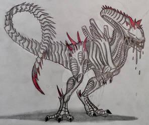Carnosaurus Xenomorph by Killosaur