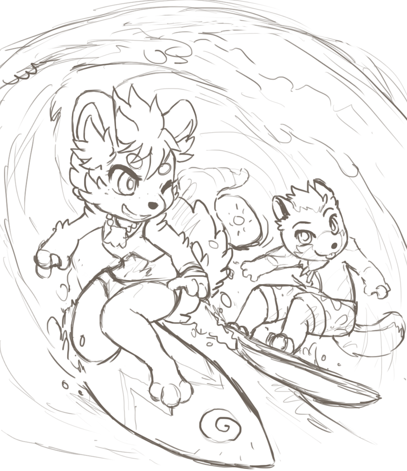 Surf buddies (wip) by Middroo