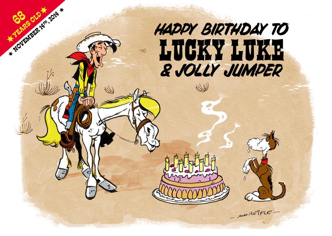 Happy Birthday Lucky Luke by AndyMornifle on DeviantArt