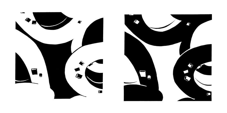 Shape And Space Artwork : Positive negative shape study by jaspercorel on deviantart