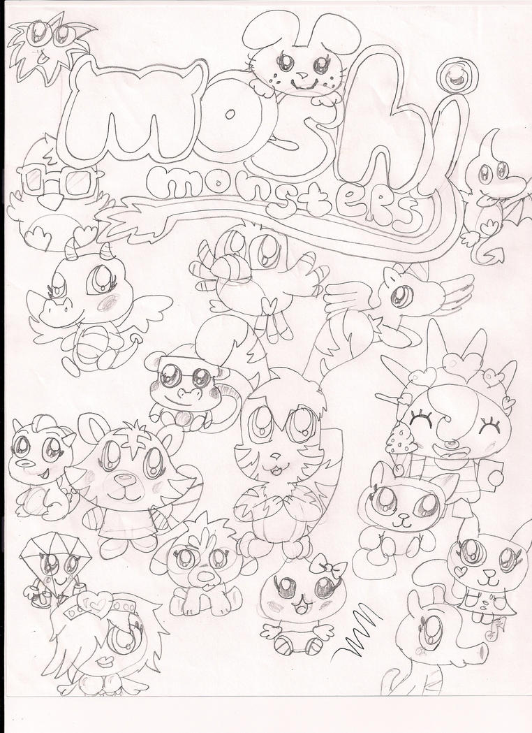 moshi monsters moshlings coloring pages - luvli moshi monsters moshlings coloring pages of coloring