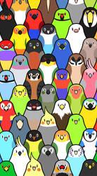 Birds and birds and birds (alternate version) by Skoryx