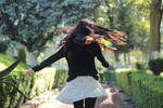 girl in black sweater