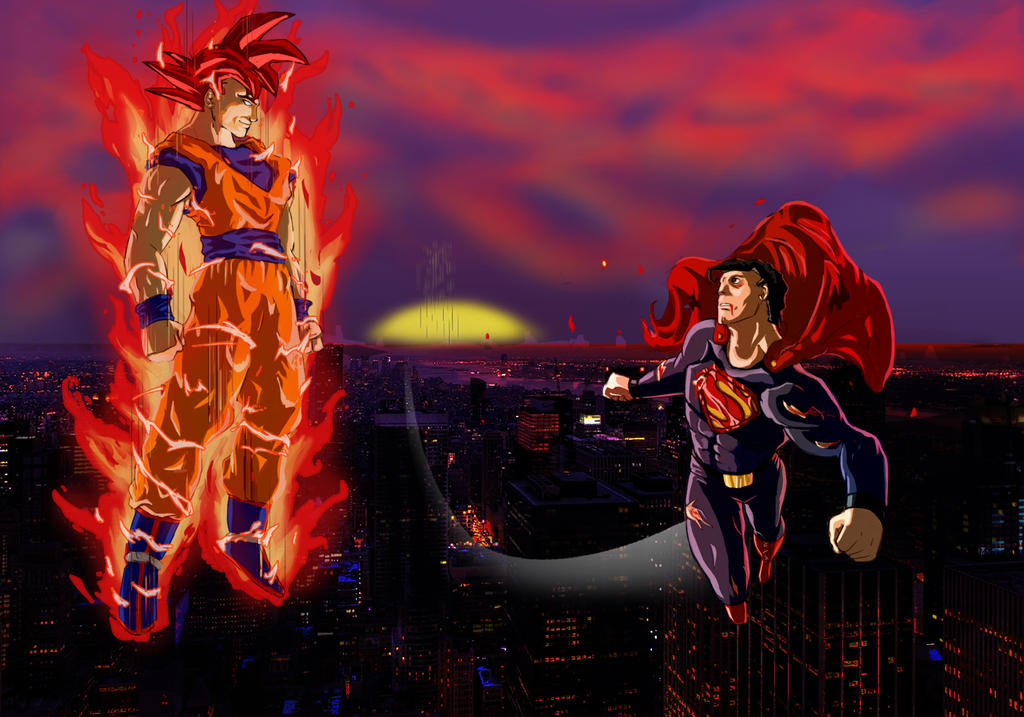 God Goku vs Superman by kdosanjh on DeviantArt