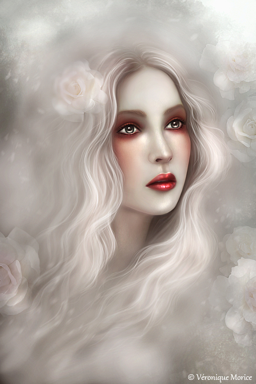 Rose Blanche by Veronique-Morice