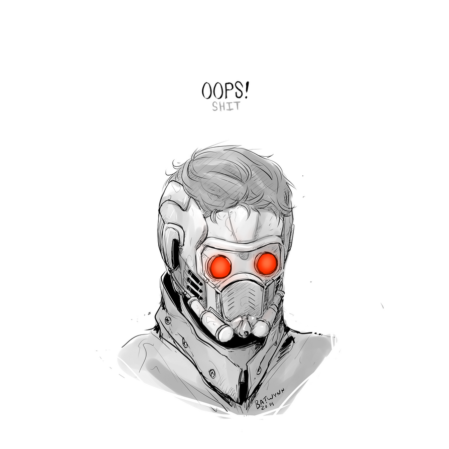 how to draw star lord mask