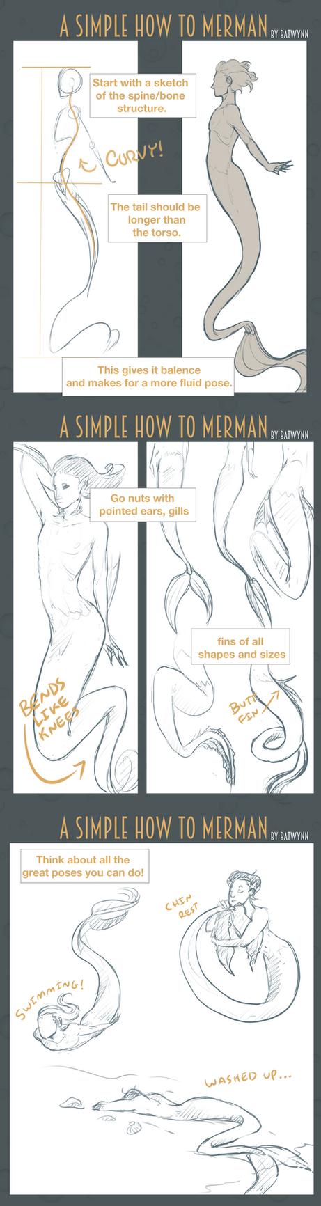 How to Draw Merpeople by Batwynn